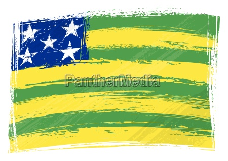 grunge goias flag