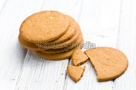 almond cookies on kitchen table