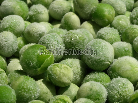 frozen peas macro