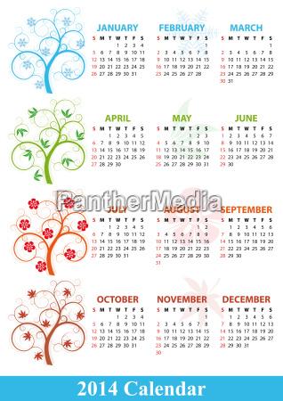 2014 calendar season tree