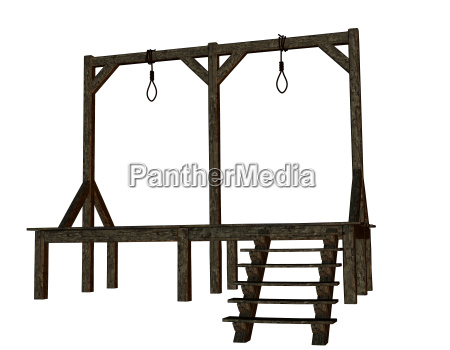 cutout gallows from the middle