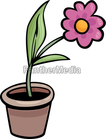 flower in pot clip art cartoon