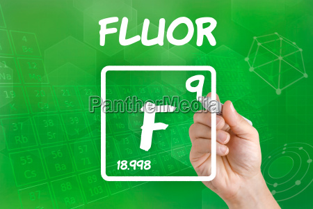 symbol for the chemical element fluorine