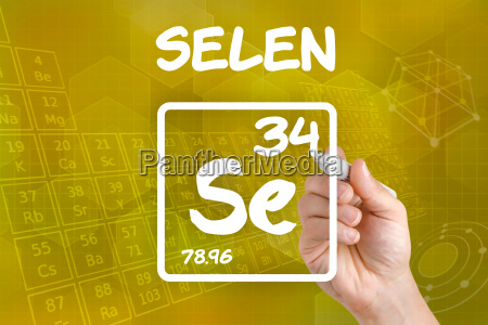 symbol for the chemical element selenias