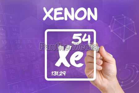 symbol for the chemical element xenon