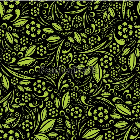 seamless vector wallpaper green vegetation repeating