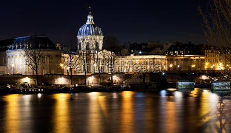 french academy in paris at night