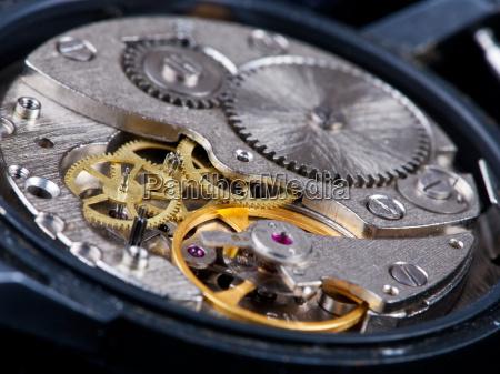 disassembled wristwatch