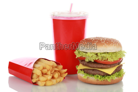 double cheeseburger combo with fries and