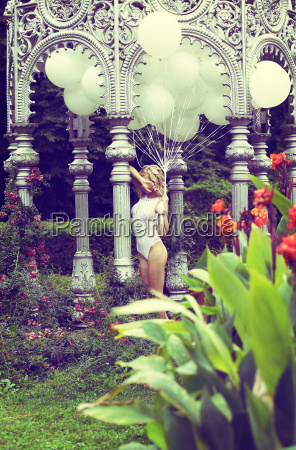 sentiment beautiful relaxed blonde holding air