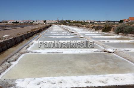 salt works in tavira algarve portugal