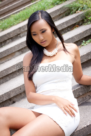 young attractive asian with dark hair
