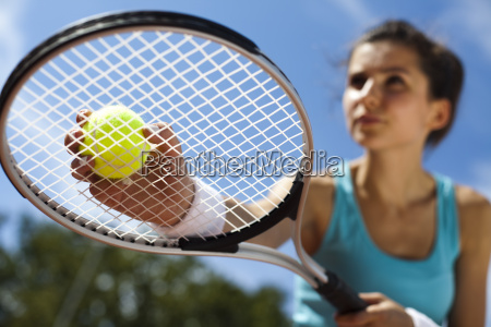young woman tennis player on the