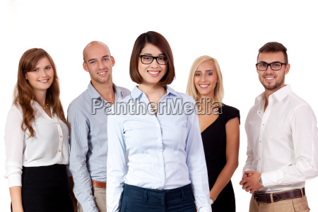 young successful businessteam group isolated