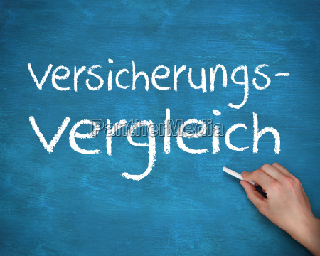 hand writing german words versicherungs and