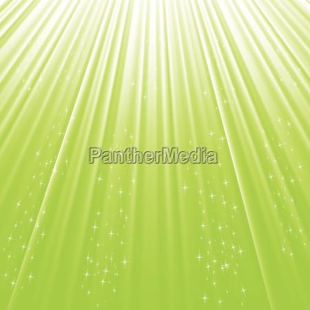 green stars background