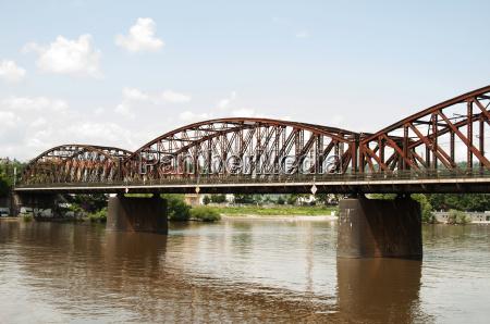 railway bridge at vyton prague