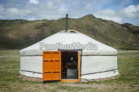 typical mongolian yurt