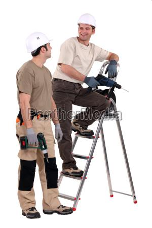 two handymen at work