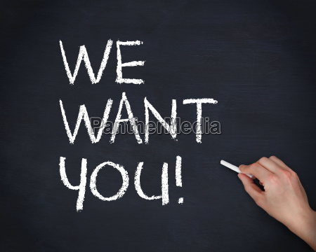 hand writing we want you with