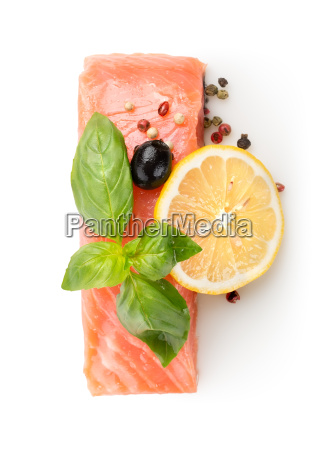 fillet of salmon with lemon and