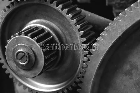 gear wheels of a machine