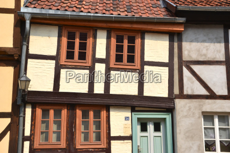half timbered house on the hill