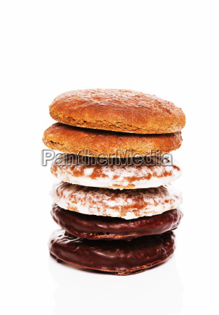 a stack of different gingerbread
