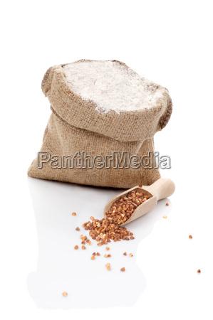 flour and buckwheat