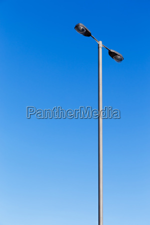 lighting pole with blue sky