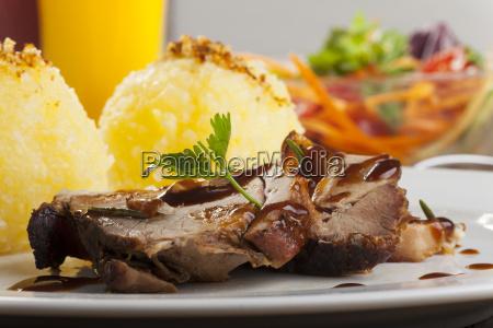 roast pork with potato dumpling
