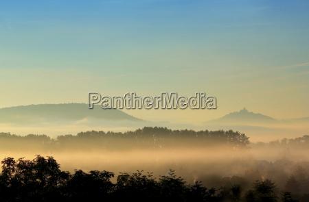 thueringer landscape in the mist