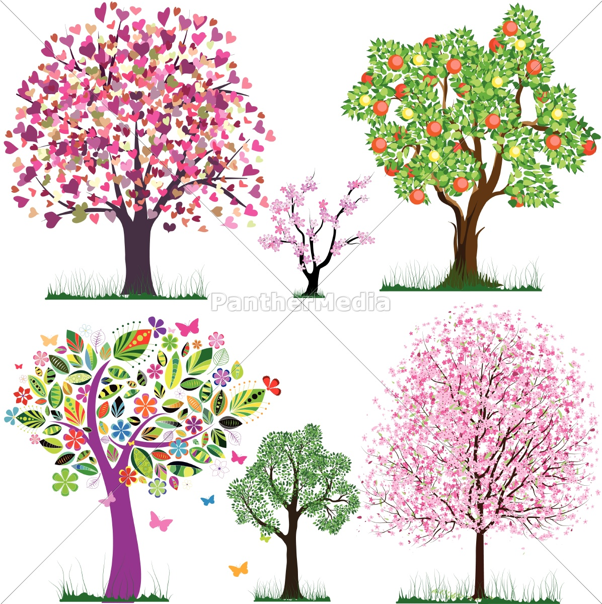 vector, fabulous, trees - 10012120