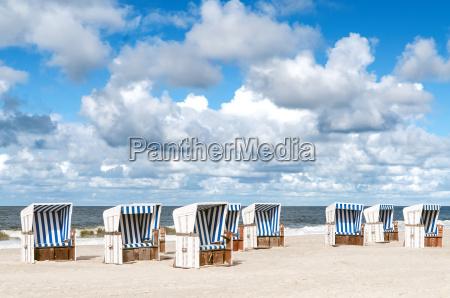 beach baskets on the beach of
