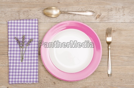knife fork and plate on a