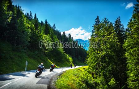 bikers, in, mountainous, tour - 10022276