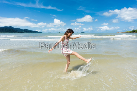 teenager on the beach