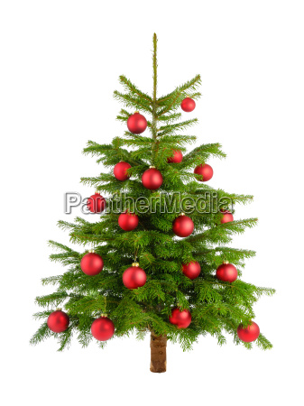 ingenious christmas tree with red balls