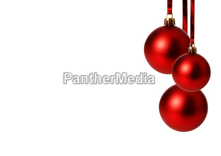 red christmas balls hanging exempted white