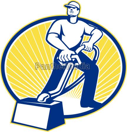 carpet, cleaner, vacuum, cleaning, machine, retro - 10032078