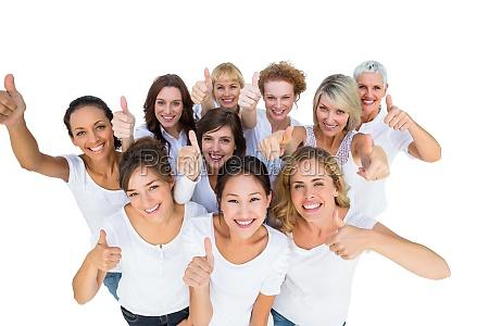 positive, female, models, smiling, at, camera - 10038232