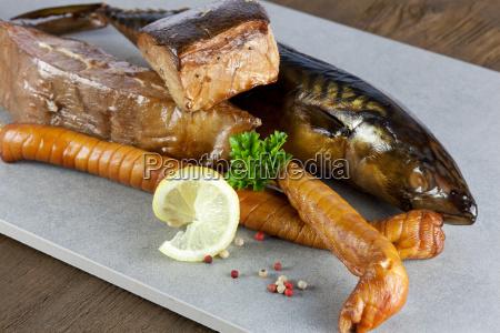 fish platter with smoked fish