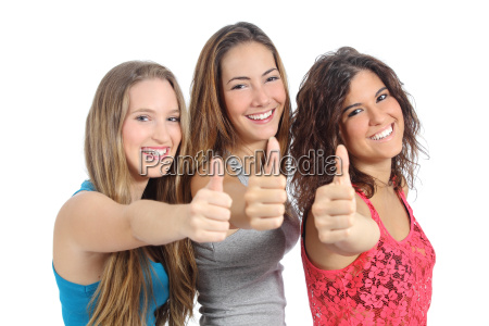 group, of, three, girls, with, thumb - 10043666