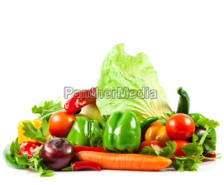 fresh vegetable isolated on white background