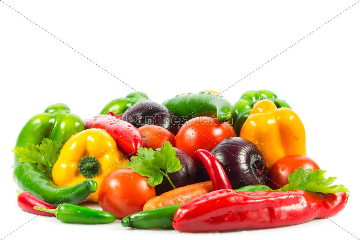 fresh, vegetable, isolated, on, white, background. - 10045596