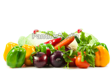 fresh, vegetable, isolated, on, white, background. - 10045608