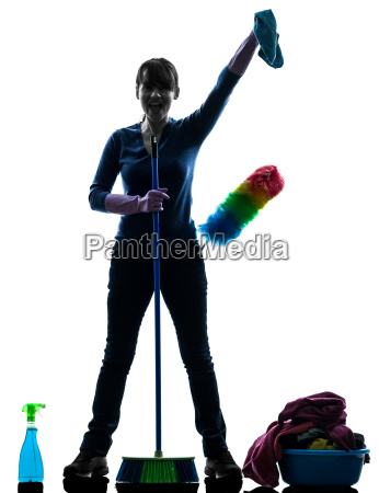 woman, maid, housework, cleaning, products, silhouette - 10045050