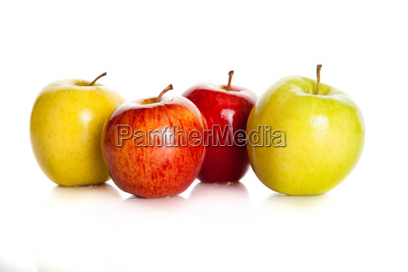 fresh, colorful, apples, isolated, on, white - 10046218