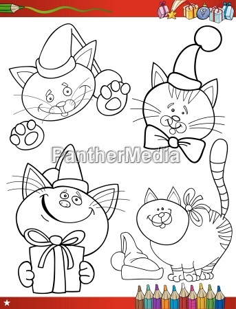 cartoon christmas themes coloring page