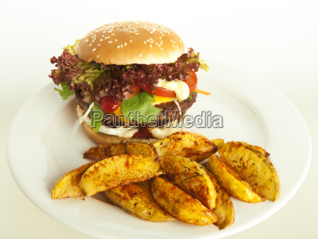 cheeseburger, with, potato, wedges - 10055004